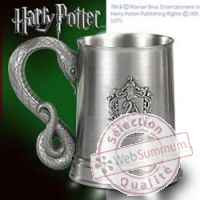 Harry potter mug etain serpentard Noble Collection -nob07669