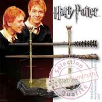 Harry potter set baguettes magiques weasley twins Noble Collection -nob07495