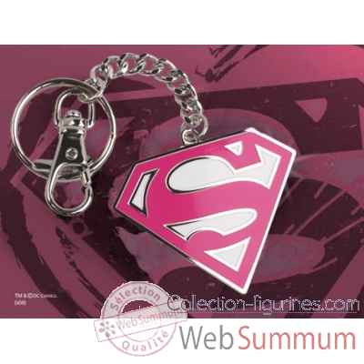 Porte-cles logo supergirl rose Noble Collection -NNXT8366