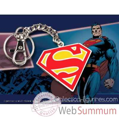 Porte-cles logo superman en couleur Noble Collection -NNXT8360