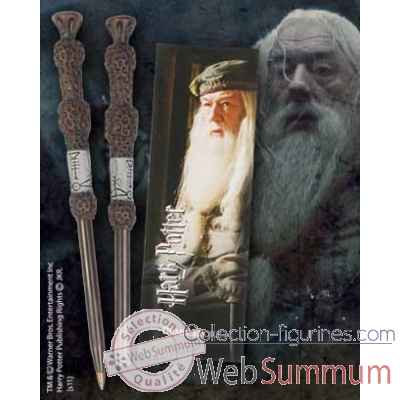 Stylo baguette & marque-page dumbledore Noble Collection -NN8632