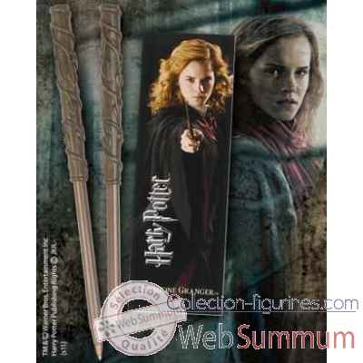 Stylo baguette & marque-page hermione Noble Collection -NN8634