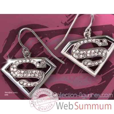 Supergirl™ - boucles d\'oreilles cristal Noble Collection -NN4028