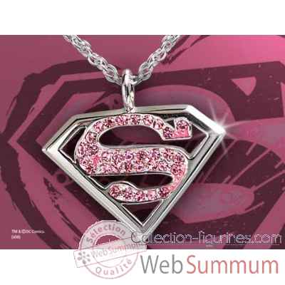 Supergirl™ - pendentif cristal rose Noble Collection -NN4022