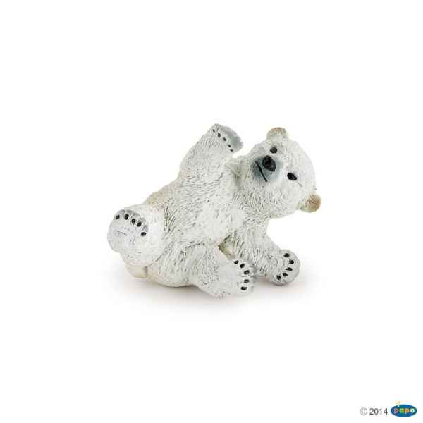 Figurine Bebe ours polaire jouant Papo -50143