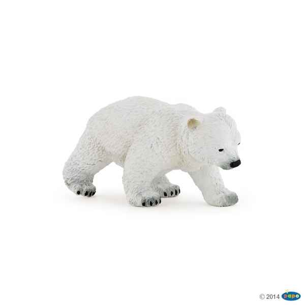 Figurine Bebe ours polaire marchant Papo -50145