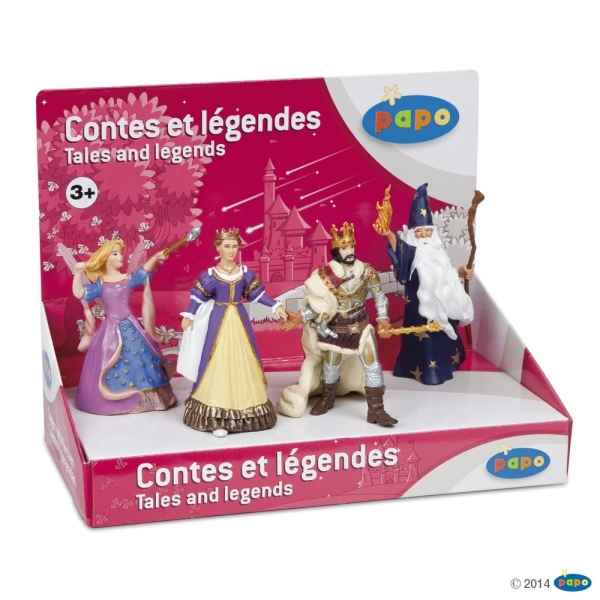 Figurine Boite presentoir contes & legendes 2 (4 fig.) Papo -80501