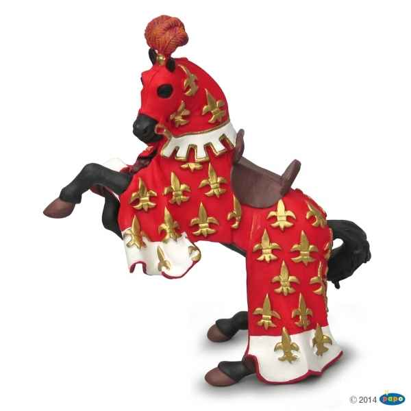 Figurine Cheval du prince philippe rouge Papo -39257