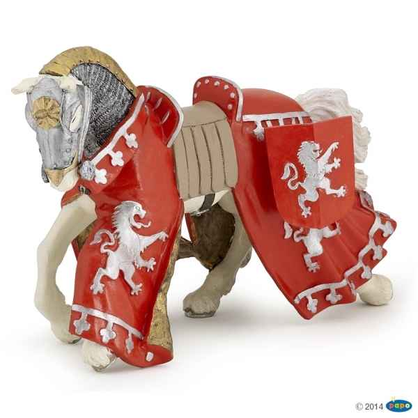 Figurine Cheval du prince richard rouge Papo -39772