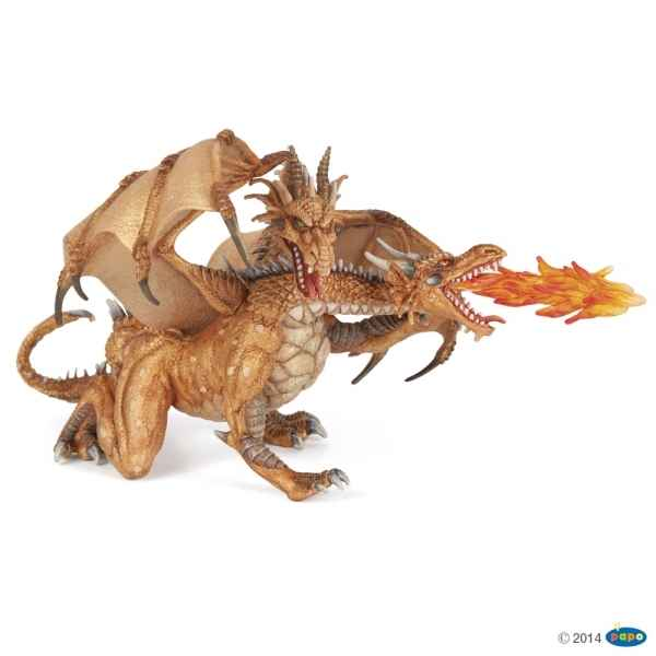 Figurine Dragon deux tetes or Papo -38938