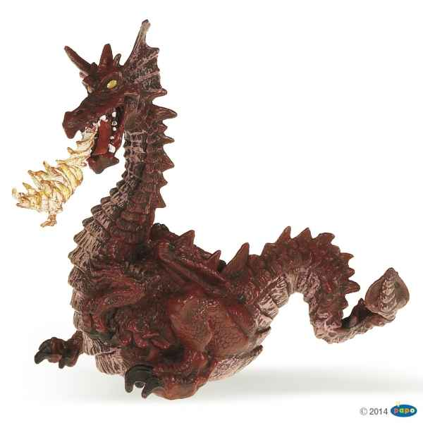 Figurine Dragon rouge avec flamme Papo -39016