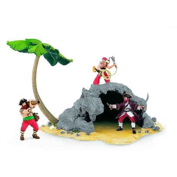 Figurine l\'ile pirate Papo -60252