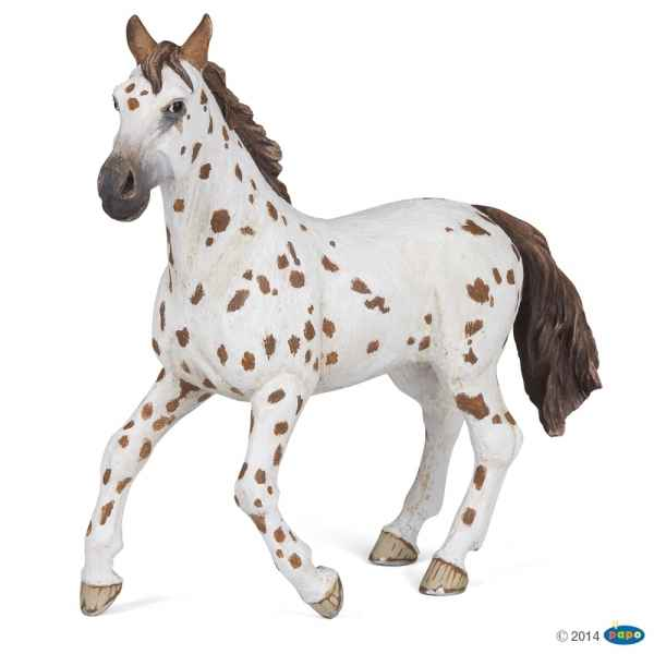 Figurine Jument appaloosa brune Papo -51509