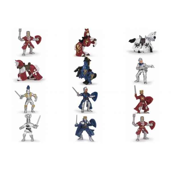 Figurine Mini plus chevaliers (tube, 12 pcs) Papo -33022