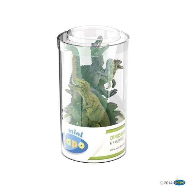Figurine Mini plus dinosaures lot 1 (tube, 6 pcs) Papo -33018