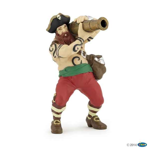 Figurine Pirate au canon Papo -39439