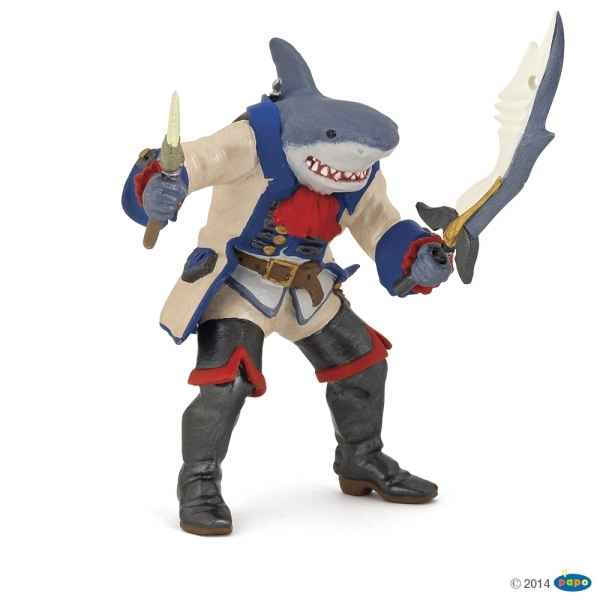 Figurine Pirate mutant requin Papo -39460