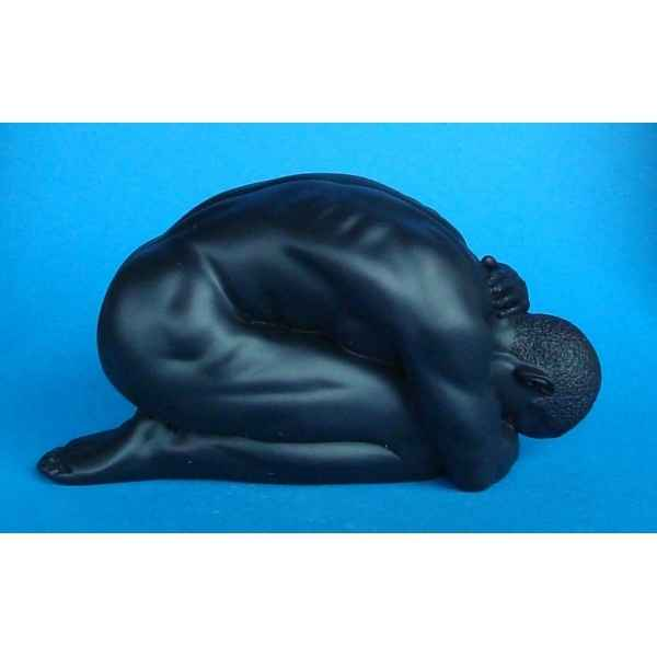 Figurine body talk - homme  kneeling black  - bt22