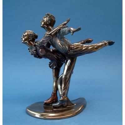 Figurine body talk - on ice austrian waltz  - wu74833
