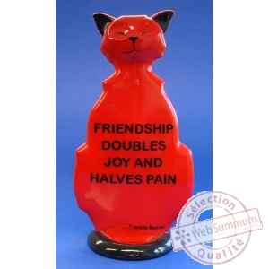 Figurine chat - wise cat friendship - wic06