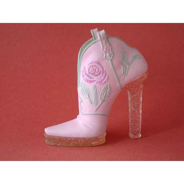 Figurine chaussure miniature collection just the right shoe glittering cowgirl  - rs90611