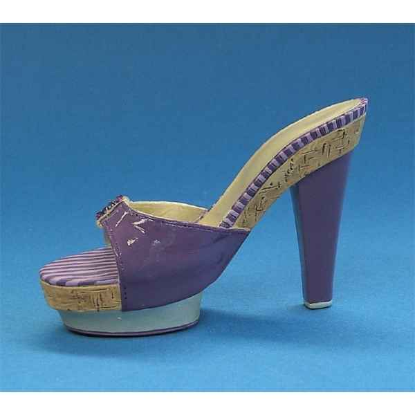Figurine chaussure miniature collection just the right shoe purple palace   - rs802819