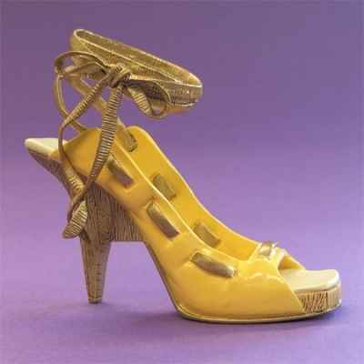 Figurine chaussure miniature collection just the right shoe wooden wedge wrap) - rs26040
