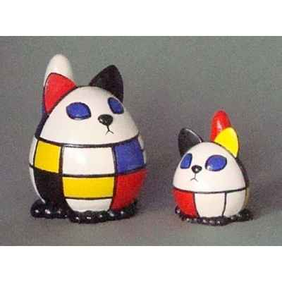 Figurine menagerie geometrique - chats - meg03