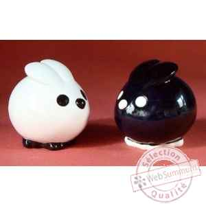 Figurine menagerie de table - lapins - spm05
