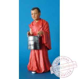 Figurine tibet jinpa boy with bucket colour - tib001
