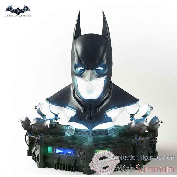 Dc comics: batman arkham origins - replique masque batman taille reelle -TRIBAOCOWL