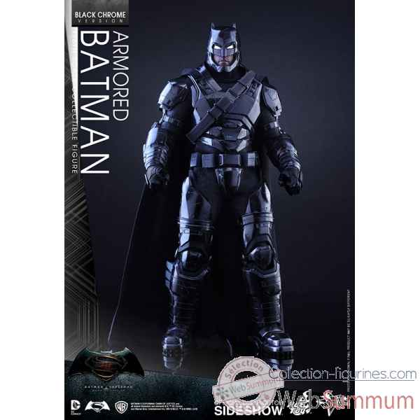 Figurine batman en armure black chrome version echelle 1/6 -SSHOT902671