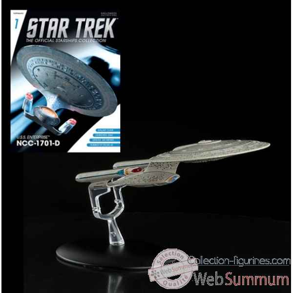 Figurine star trek starships mag #1 uss enterprise ncc-1701d -DIAAUG131693