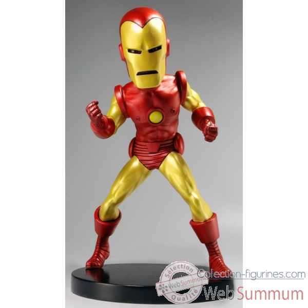 Figurine marvel classic - iron man head knocker extreme -NECA61401