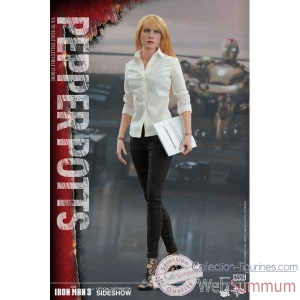 Iron man 3 - figurine pepper potts echelle 1/6 -SSHOT902510