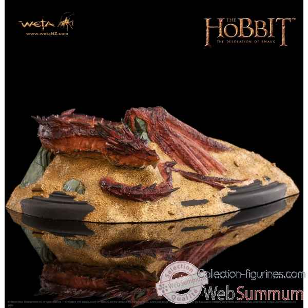 Le hobbit la desolation de smaug: statue dragon sous la montagne -WET01448