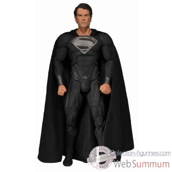 Man of steel: figurine superman costume noir echelle 1:4 -NECA61406