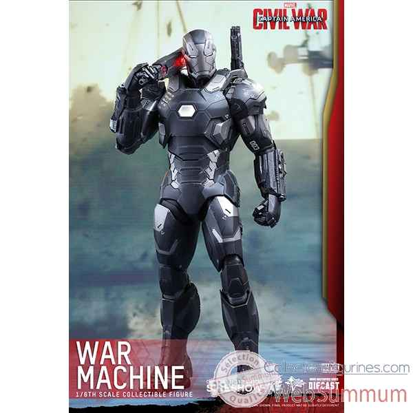 Marvel civil war: figurine diecast war machine mark iii echelle 1/6 -SSHOT902621