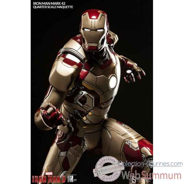Marvel iron man: statuette echelle 1/4 mark 42 -SS300353
