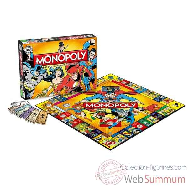 Monopoly: dc comics retro edition (anglais) -WM22545