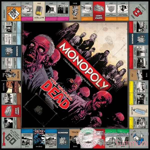 Monopoly: the walking dead comic edition (anglais) -WM21470