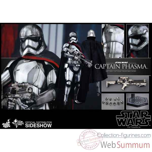 Star wars le reveil de la force: figurine capitaine phasma echelle 1/6 -SSHOT902582