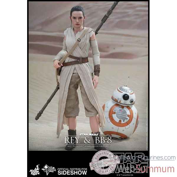 Star wars le reveil de la force: figurine rey & bb-8 echelle 1/6 -SSHOT902612