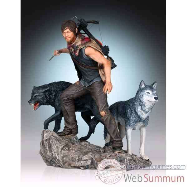 Statue daryl avec loup the walking dead -GGI80403