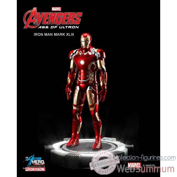 Statue iron man - mark 43 marvel: avenger - age of ultron echelle 1/9 -DRAG38145