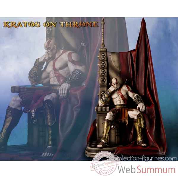 Statue kratos sur throne god of war -IPGOWKAT