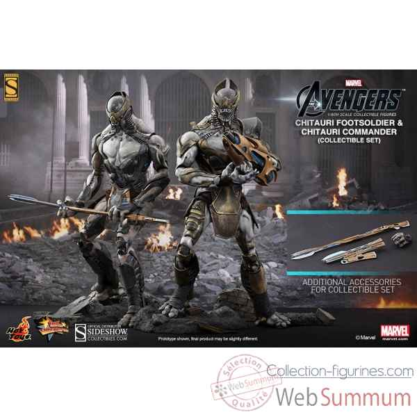The avengers: figurine commandant chitauri commander et footsoldier echelle 1/6 -SSHOT902163