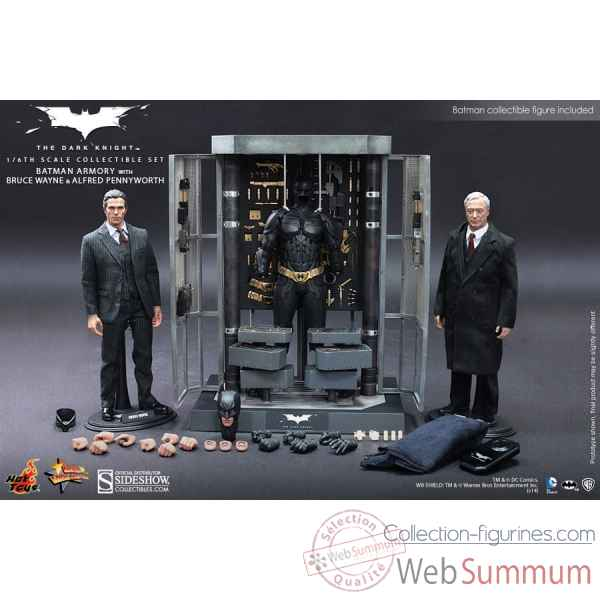 The dark knight: figurine set armure batman avec bruce wayne & alfred echelle 1/6 -SSHOT902171