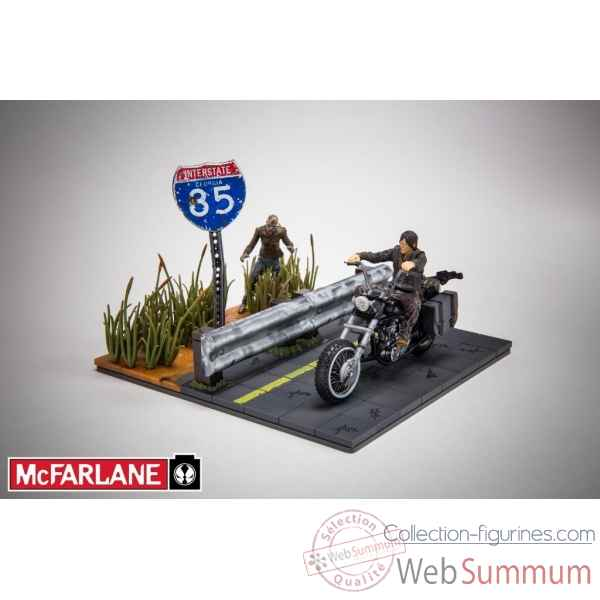 The walking dead figurine daryl dixon sur sa moto -MCF14525