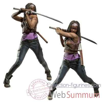 The walking dead: figurine michonne deluxe -MCF14474